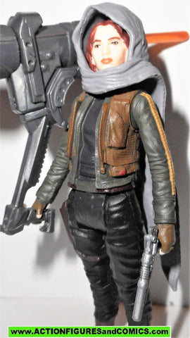 star wars action figures JYN ERSO hood scarf jedha rogue one movie