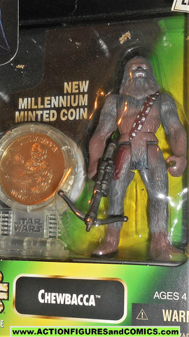star wars action figures CHEWBACCA millenium coin power of the force moc mib