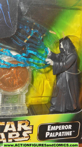 star wars action figures EMPEROR PALPATINE millenium coin power of the force moc mib