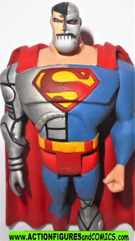 justice league unlimited CYBORG SUPERMAN dc universe animated CUSTOM
