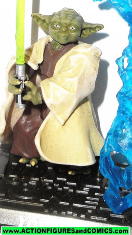 star wars action figures YODA 2006 the saga collection complete jedi knight