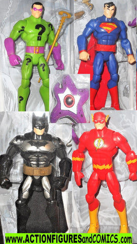 dc universe Total Heroes BATMAN SUPERMAN FLASH RIDDLER 4 pack 6 inch moc