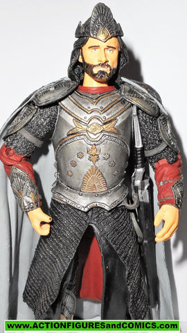 Lord of the Rings ARAGORN KING of Gondor strider 2003 complete toybiz