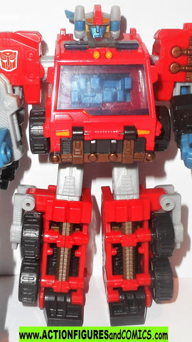 Transformers energon INFERNO 2004 Firetruck action figures hasbro