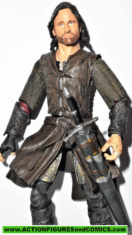 Lord of the Rings ARAGORN BATTLE ACTION toybiz complete strider hobbit