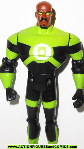 justice league unlimited GREEN LANTERN John Stewart NEON SUIT dc universe