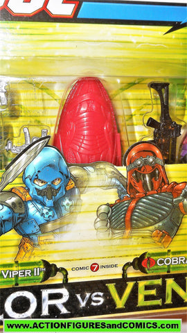 gi joe ALLEY VIPER Cobra VIPER 2004 valor vs venom 2 pack gijoe moc