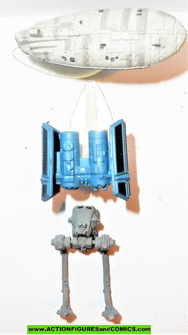 star wars micromachines VEHICLES SET V 5 rebel trasport tie bomber at-st