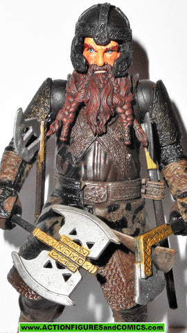 Lord of the Rings GIMLI helms deep toybiz complete hobbit lotr