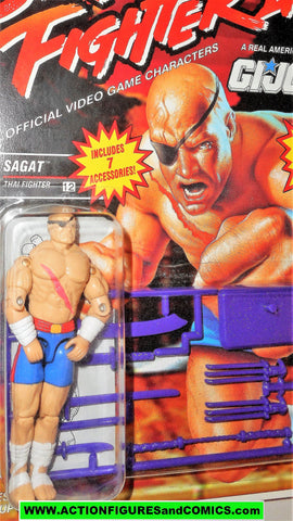gi joe Street Fighter II SAGAT 1993 capcom 2 gijoe action figure moc