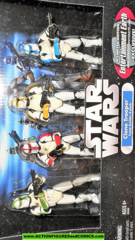 star wars action figures CLONE TROOPER trooper builder 4 pack entertainment earth mib moc