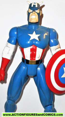 marvel universe toy biz CAPTAIN AMERICA 10 inch animated deluxe collectors action figures