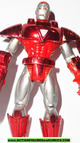 Iron man SILVER CENTURION HOLOGRAM ARMOR 1997 marvel universe action hour toy biz