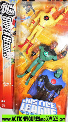 justice league unlimited ZOOM GREEN LANTERN martian manhunter 3 pack dc universe moc