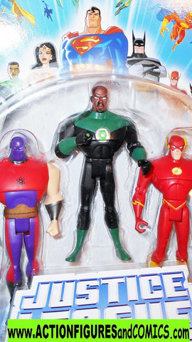 justice league unlimited ATOM SMASHER green lantern flash 3 pack dc universe moc