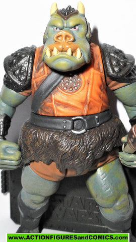 star wars action figures GAMORREAN GUARD 2005 OTC jabba palace sail barge