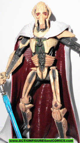 star wars action figures GENERAL GRIEVOUS revenge of the sith sneak preview rots
