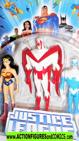 justice league unlimited WONDER WOMAN HAWK DOVE 3 pack dc universe moc