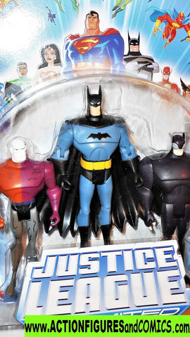 justice league unlimited METAMORPHO BATMAN WILDCAT 3 pack dc universe moc