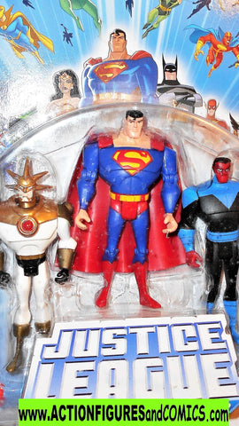 justice league unlimited AZTEC SUPERMAN SINESTRO 3 pack dc universe moc