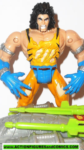 X-MEN X-Force toy biz WOLVERINE battle blasters YELLOW variant 1999 2000