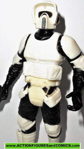 star wars action figures BIKER SCOUT trooper power of the jedi