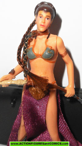 star wars action figures PRINCESS LEIA jabba sail barge prisoner 33  slave 2004 otc