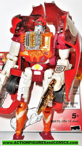 transformers RID SIDE BURN 2001 robots in disguise RED 2000 instca