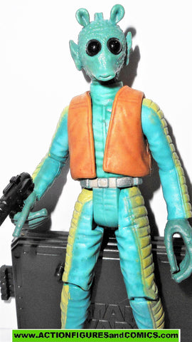 star wars action figures GREEDO 22 2005 otc mos eisley cantina bar Han Shot First