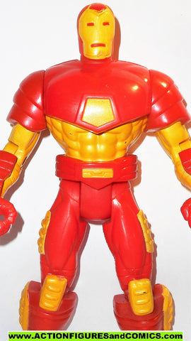 marvel universe toy biz IRON MAN 10 inch animated deluxe collectors