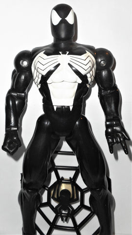 marvel universe toy biz SPIDER-MAN 10 inch Black symbiote suit deluxe