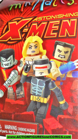 minimates ASTONISHING X-NEN cyclops wolverine colossus white queen emma frost moc mib