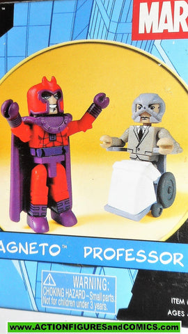 minimates MAGNETO vs PROFESSOR X  2003 x-men mini mates action figure mib moc