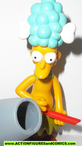 Simpsons SIDESHOW MEL 2001 series 5 complete wos bob action figures