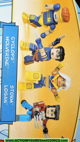 minimates ULTIMATE X-MEN 4 pack CYCLOPS WOLVERINE STORM LOGAN moc mib