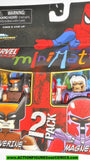 minimates WOLVERINE vs DARK MAGNETO 2010 x-men action figure mib moc