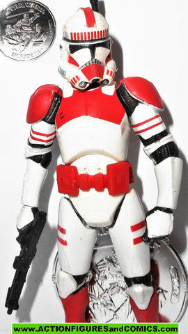 star wars action figures CLONE TROOPER RED SHOCKTROOPER revenge of the sith