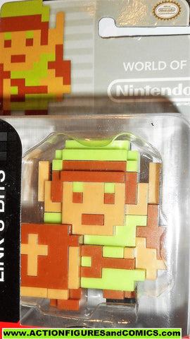 World of Nintendo LINK 8 bit green legend of zelda 2.5 inch jakks pacific moc