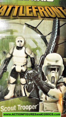 star wars action figures BIKER SCOUT TROOPER battlefront Video game moc