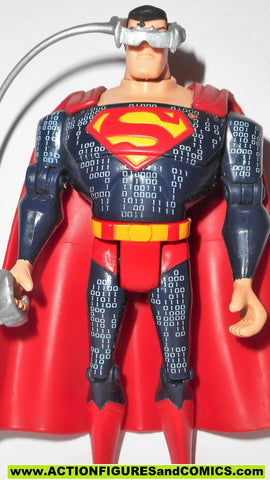 justice league unlimited SUPERMAN digital cyber defender suit & VR headset dc universe