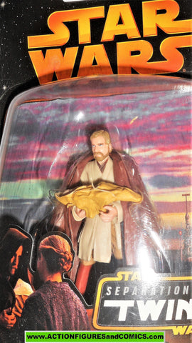 star wars action figures OBI WAN KENOBI infant baby LUKE SKYWALKER Newborn moc