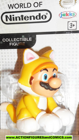 World of Nintendo MARIO CAT SUIT 2 inch Super Mario Bros jakks pacific