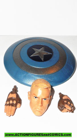 marvel legends CAPTAIN AMERICA unmasked head shield hands set hasbro