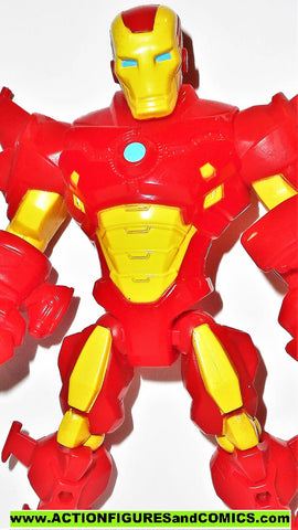 Marvel Super Hero Mashers IRON MAN red yellow shoulder wings