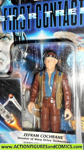 Star Trek ZEFRAM COCHRANE first contact 1996 movie 6 inch moc