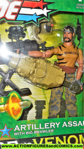 Gi joe BIG BRAWLER 12 inch artillery assault valor vs venom 2003 moc mip mib