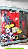 Gi joe COBRA COMMANDER sigma 6 six 8 inch BLUE 2006 gijoemoc mib