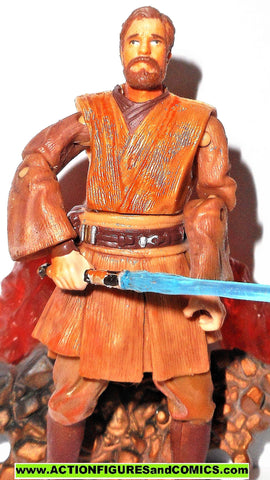 star wars action figures OBI WAN KENOBI duel at mustafar 2005 Revenge of the sith