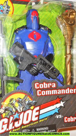 Gi joe COBRA COMMANDER 12 inch gijoe vs cobra 2001 2002 moc mip mib