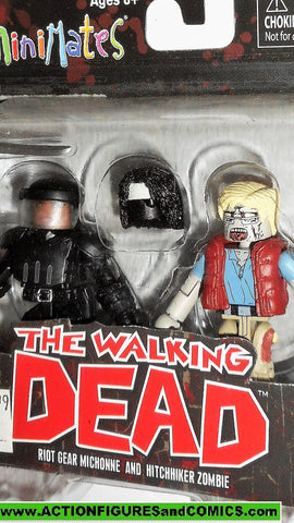 Walking Dead Minimates RIOT GEAR MICHONNE HITCHHIKER ZOMBIE series 5 moc
